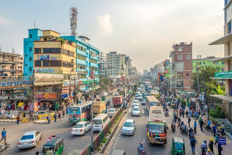 Nelle strade di Dhaka - Bangladesh fotografia stock