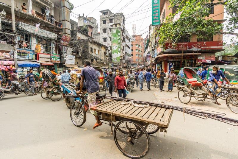 Nelle strade di Dhaka - Bangladesh immagini stock libere da diritti