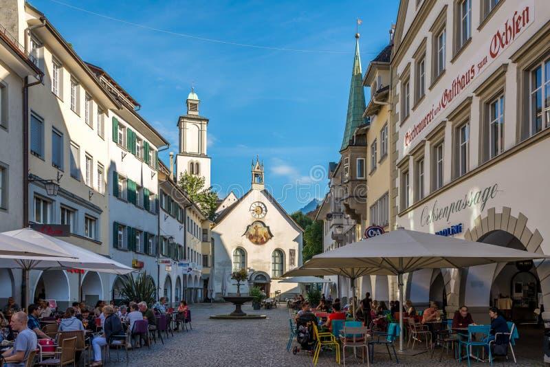Nelle vie di Feldkirch fotografia stock