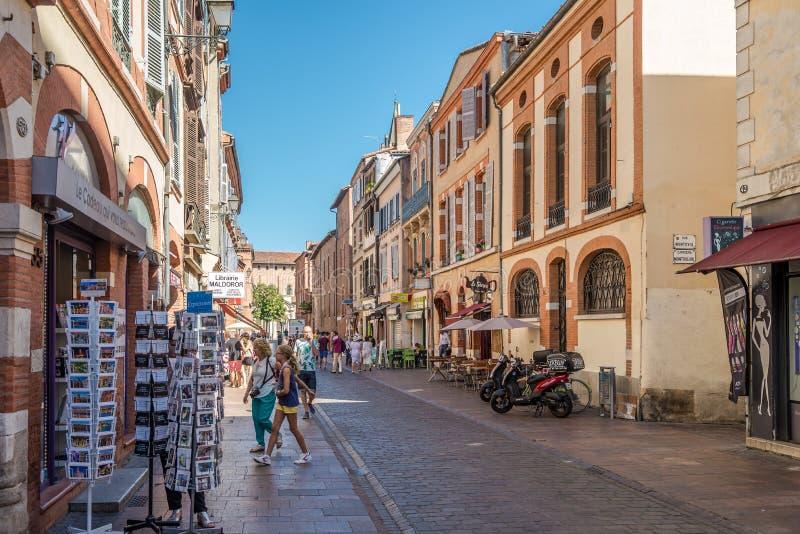 Nelle vie di Tolosa fotografie stock