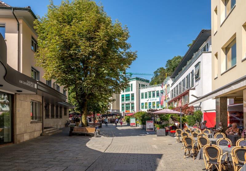 Nelle vie di Vaduz fotografia stock