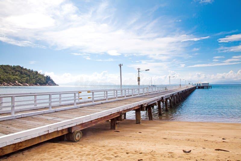 Nelly Bay Jetty, magnetische Insel nahe Townsville Australien lizenzfreie stockfotos