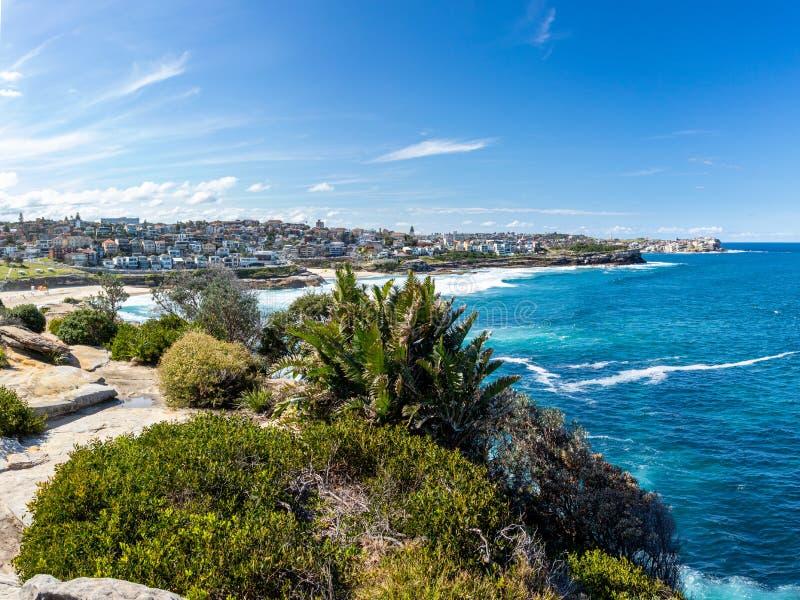 Nelson Bay at the Bondi to Coogee coastwalk close to Sydney, Australia. Beautiful idyllic spot at the sea stock image