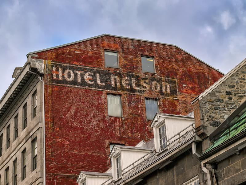 Nelson Hotel Old Montreal royalty-vrije stock foto's