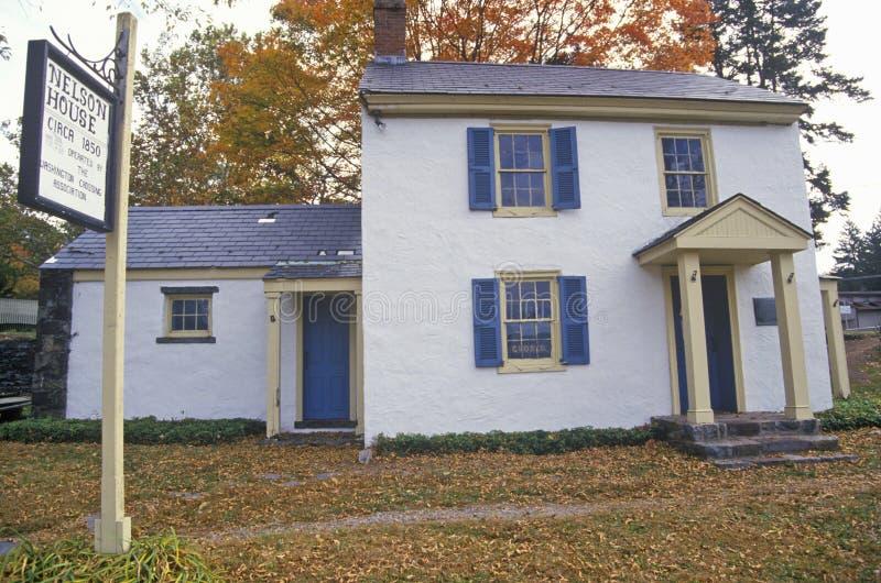 Nelson House em Washington Crossing State Park, na rota cênico 29, NJ imagem de stock