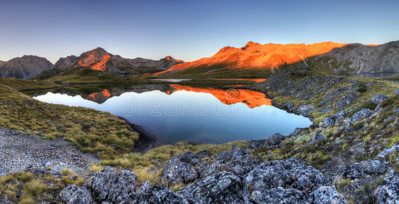Nelson Lakes, Nueva Zelanda fotografía de archivo libre de regalías