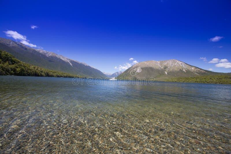 Nelson Lakes, Nya Zeeland fotografering för bildbyråer