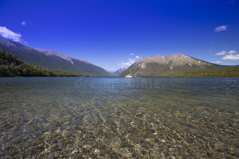 Nelson Lakes, Nya Zeeland royaltyfri fotografi