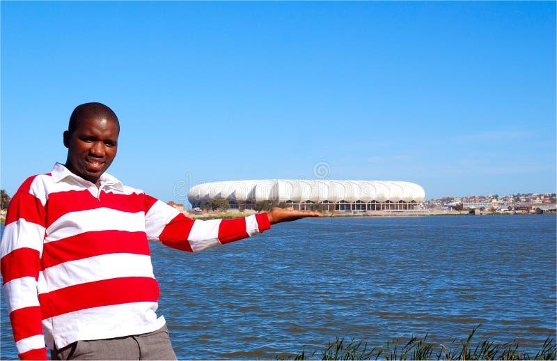 Nelson Mandela Bay stadium stock photography