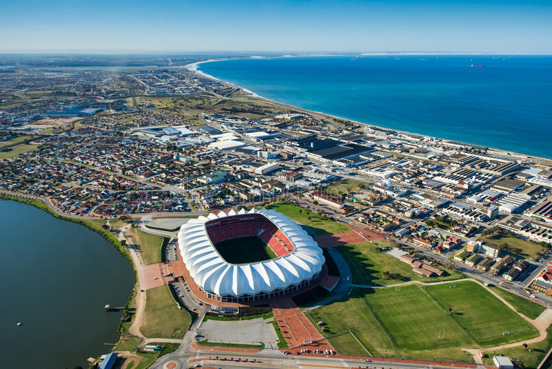 Nelson Mandela Bay Stadium Aerial Zuid-Afrika