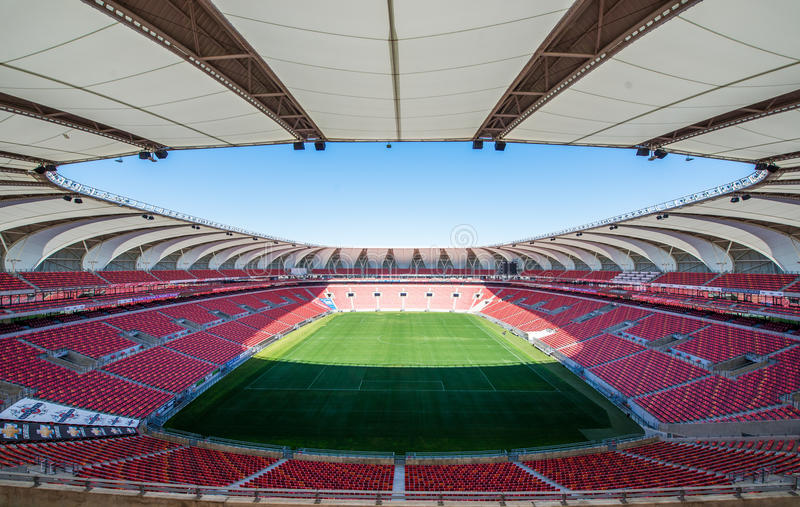 Nelson Mandela Bay Stadium South África imagem de stock