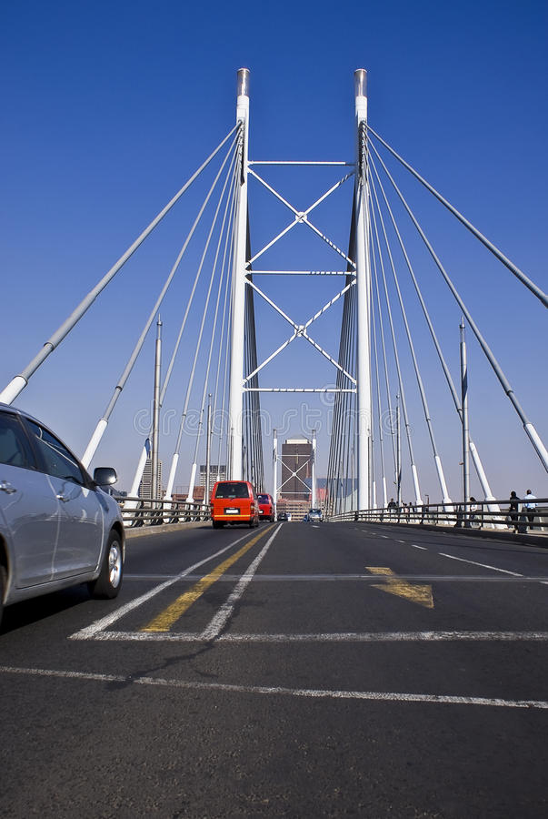 Nelson Mandela Bridge stock photo. Image of jaywalking ...