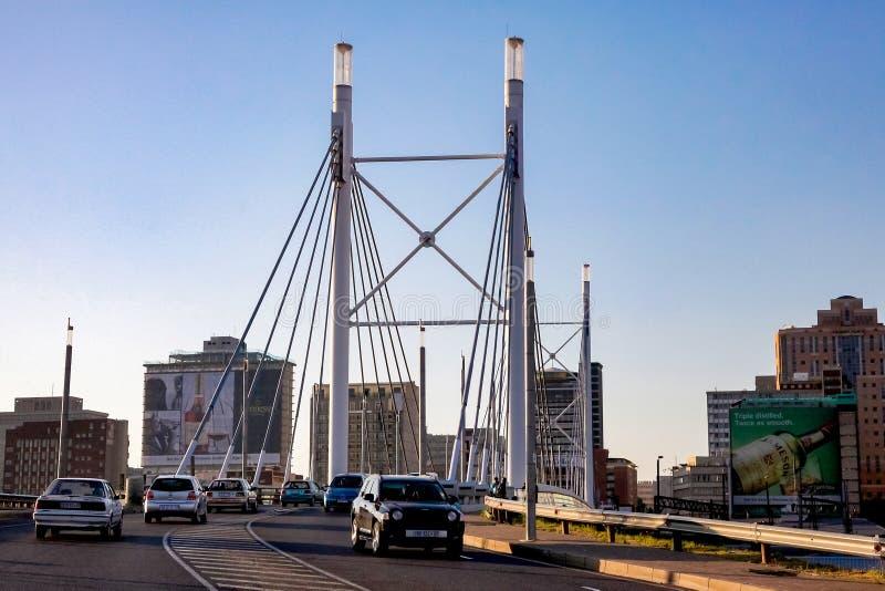 Nelson Mandela Bridge in Braamfontein Johannesburg royalty free stock photography