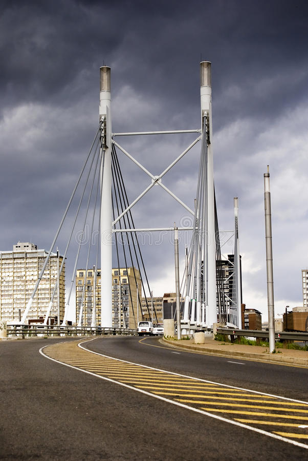 Free Nelson Mandela Bridge Facing Into Braamfontein Royalty Free Stock Image - 16973776