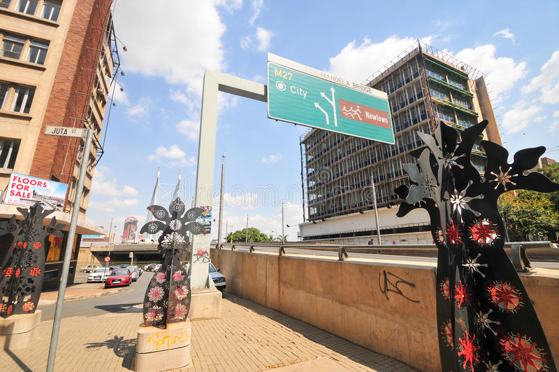 Nelson Mandela Bridge - Johannesburg, South Africa royalty free stock image