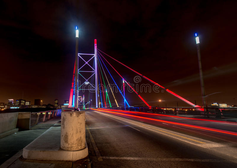 Nelson Mandela Bridge At Night Stock Photo - Image: 33020020