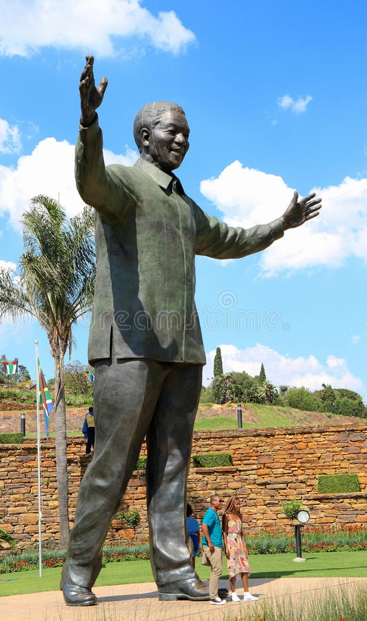 Nelson Mandela bronze. A special tribute to Nelson Mandela in Pretoria for what he did for Blacks rights royalty free stock photography