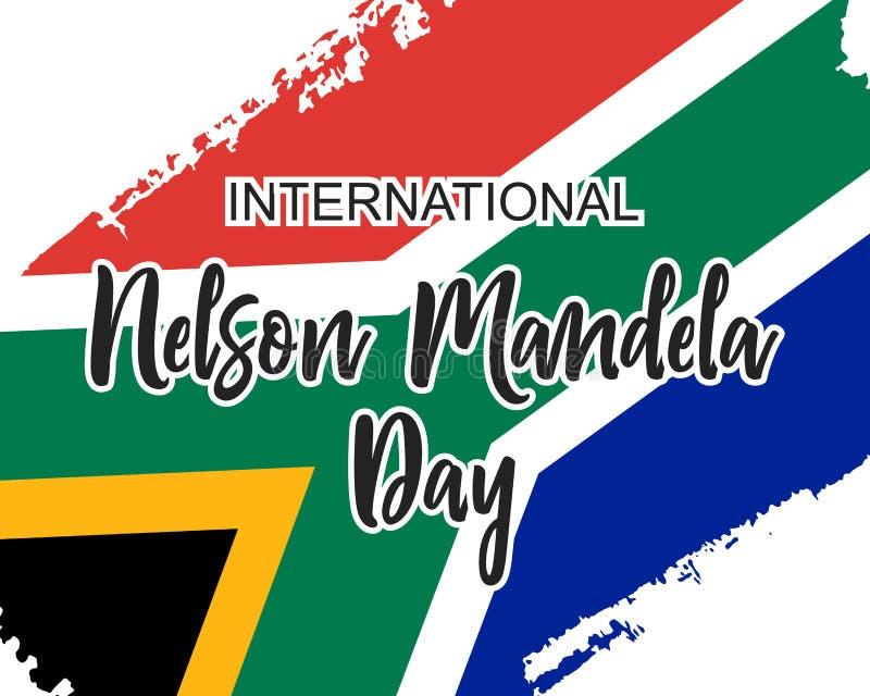 Nelson Mandela Day internacional no formato do vetor ilustração royalty free