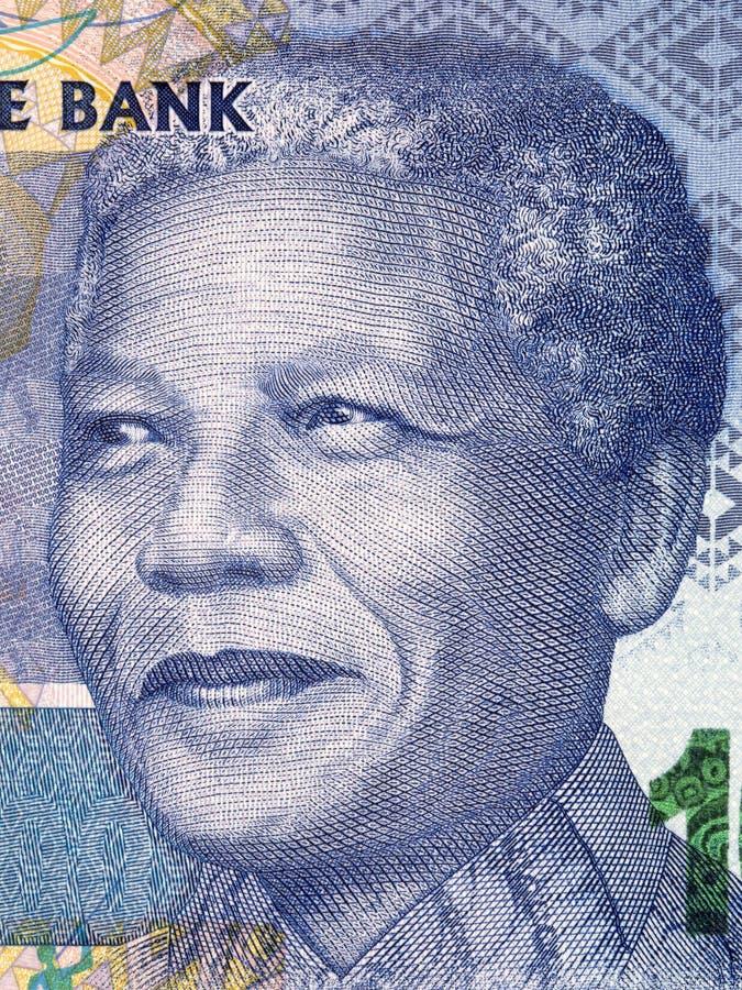 Nelson Mandela een portret stock foto's