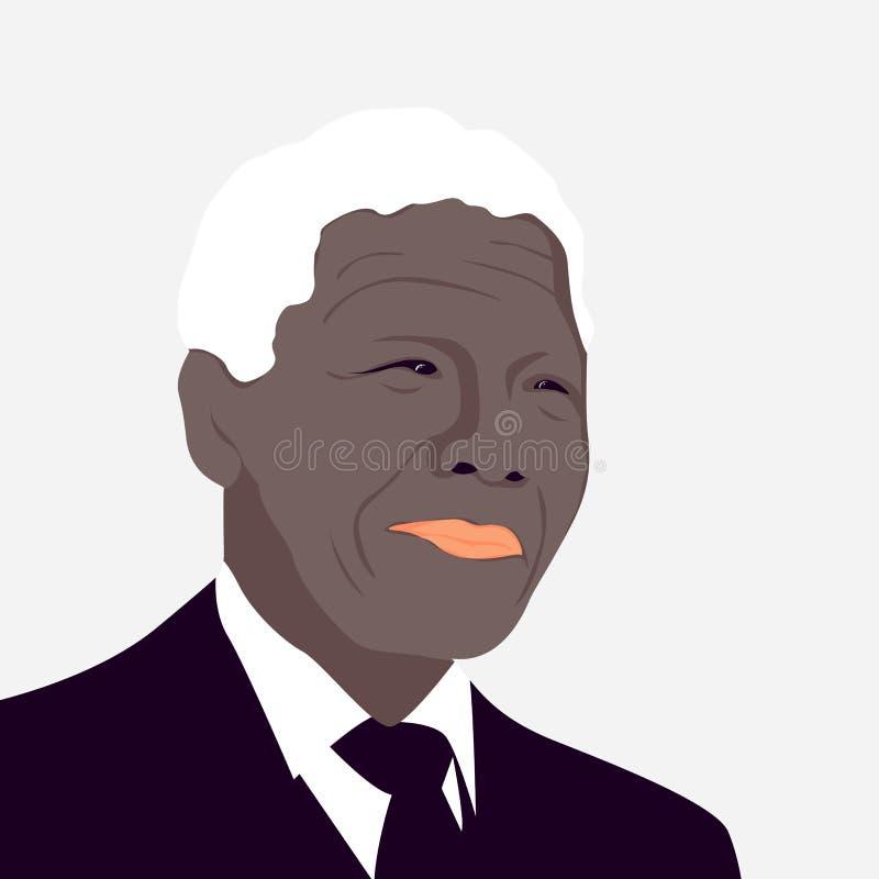Nelson Mandela era um sul - revolucionário africano ilustração do vetor