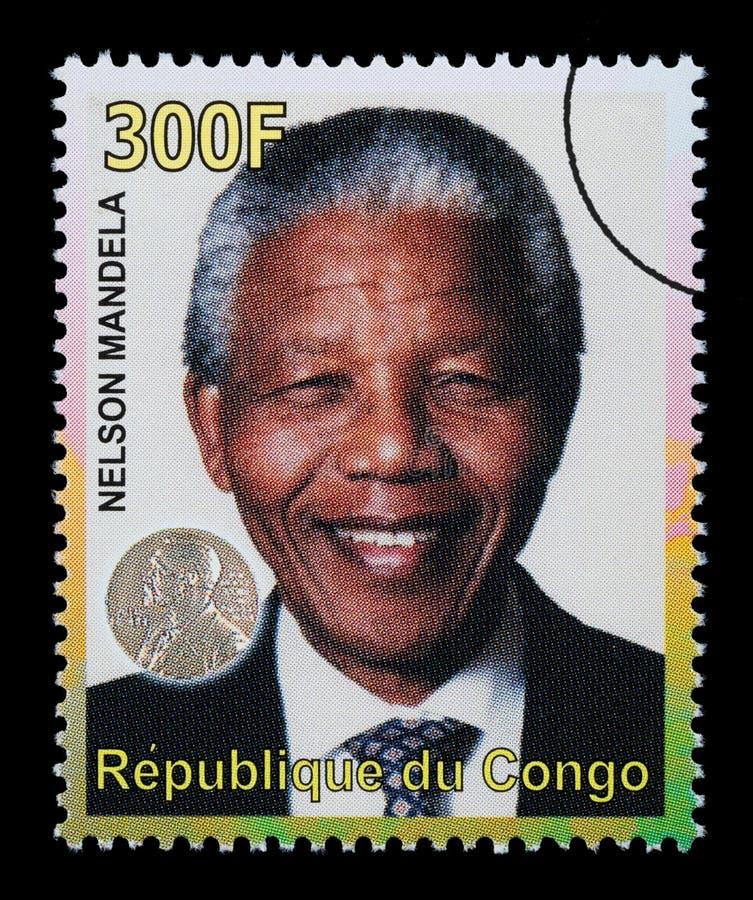 Nelson Mandela Postage Stamp ilustración del vector
