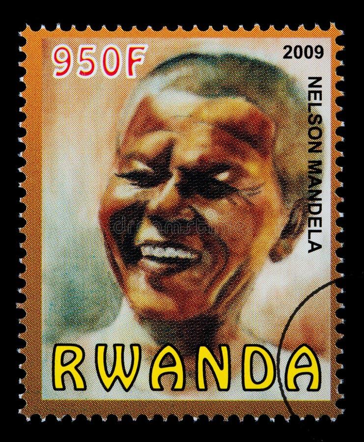 Nelson Mandela Postage Stamp arkivfoton