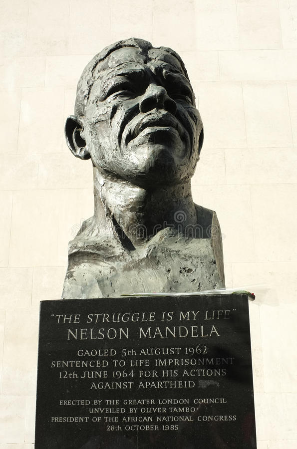 Nelson Mandela Statue fotos de archivo libres de regalías