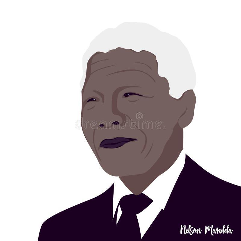 Nelson Mandela var ett södra - den afrikanska revolutionären vektor illustrationer