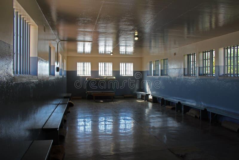 Nelson Mandels Gefängnis-Flügel, Robben Island, Cape Town, Südafrika stockfotos