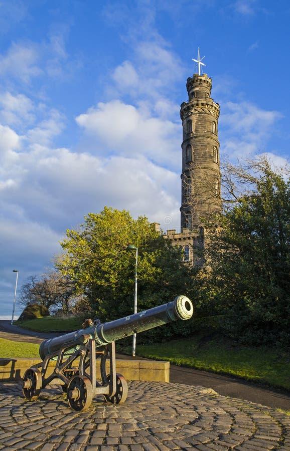 Nelson Monument i Edinburg arkivbilder