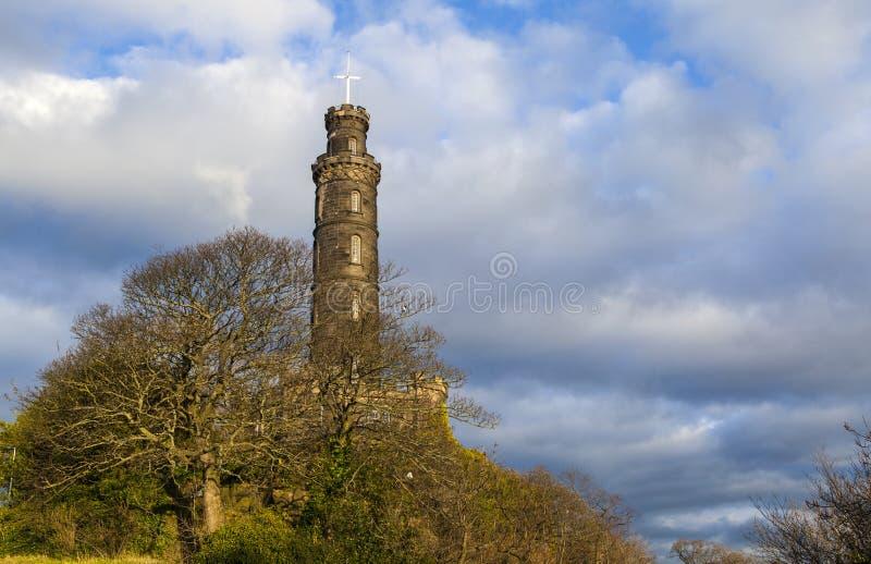 Nelson Monument i Edinburg arkivfoto
