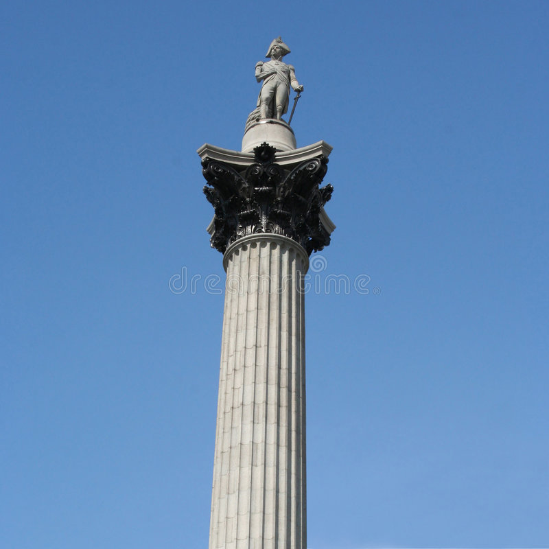 Download Nelson's column London stock image. Image of stone, monument - 4392265