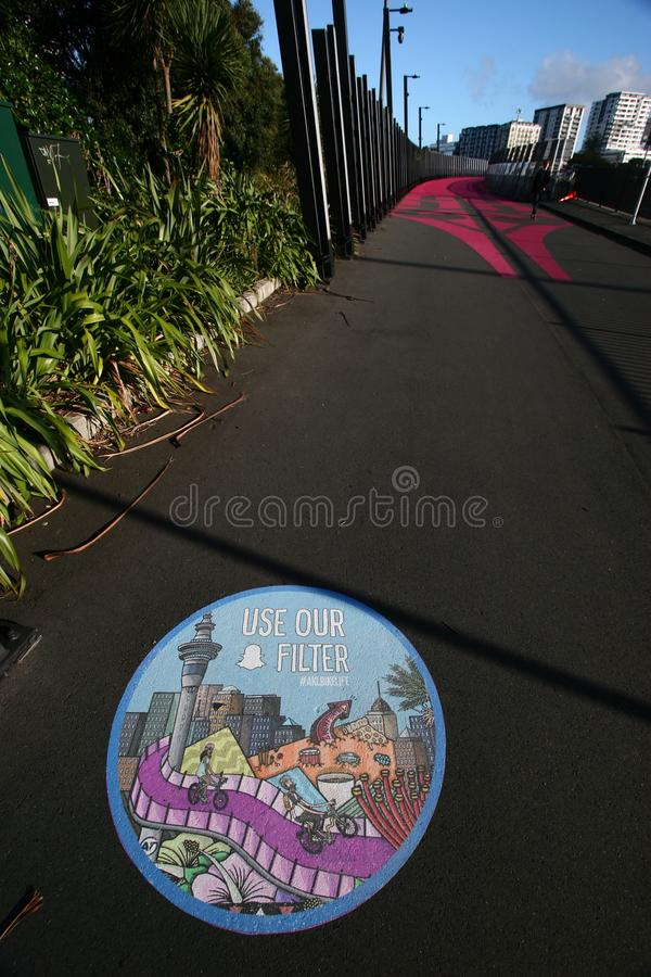 Nelson Street Cycleway, aka Lightpath, Auckland, Nouvelle-Zélande photo stock