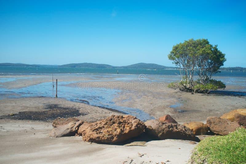 Nelsons Bucht, New South Wales, Australien lizenzfreie stockfotografie