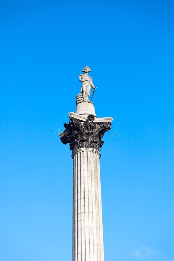 Nelsons kolonn i Trafalgar Square London arkivfoton