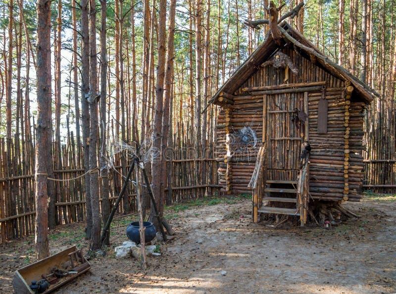 Baba Yaga`s yard, amusement park `Nelzha`, Voronezh region stock image