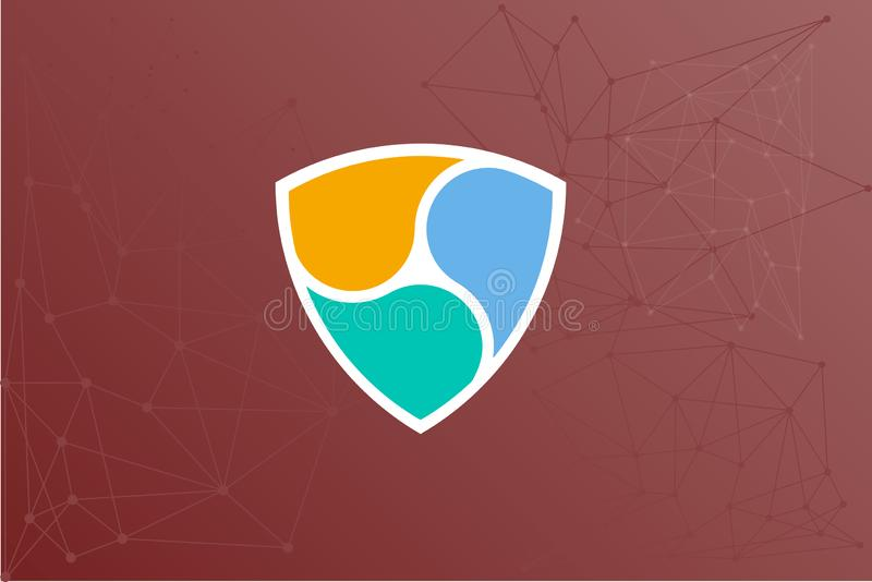 NEM Crypto nätverksutbyte royaltyfri illustrationer