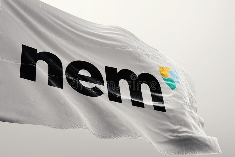 NEM crypto network. NEM is a peer-to-peer cryptocurrency and blockchain platform launched on March 31, 2015. Written in Java, with a C++ version in the works stock photos