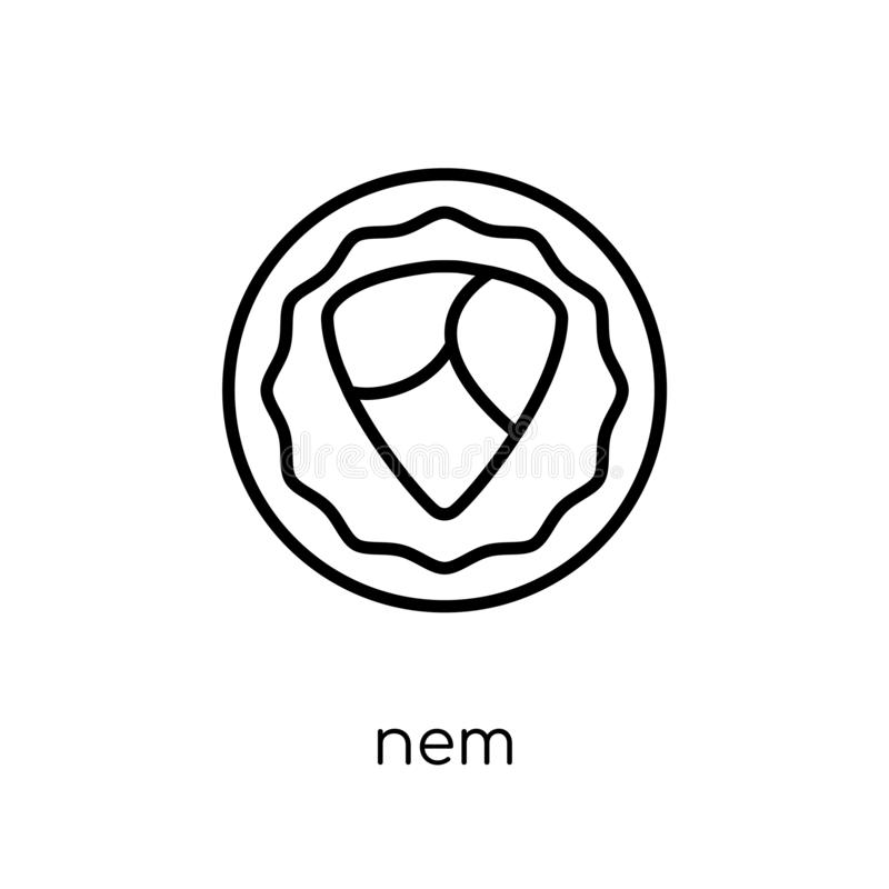 Nem symbol  vektor illustrationer