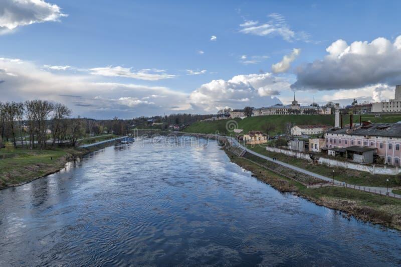 Neman rzeka w Hrodna fotografia royalty free