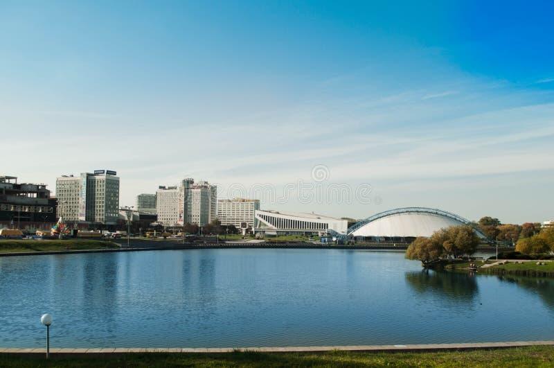 Nemiga sq minsk Ciudad de Bielorrusia imagen de archivo libre de regalías