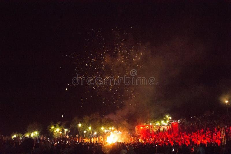 Traditional ancient holiday Kupala Night stock photography