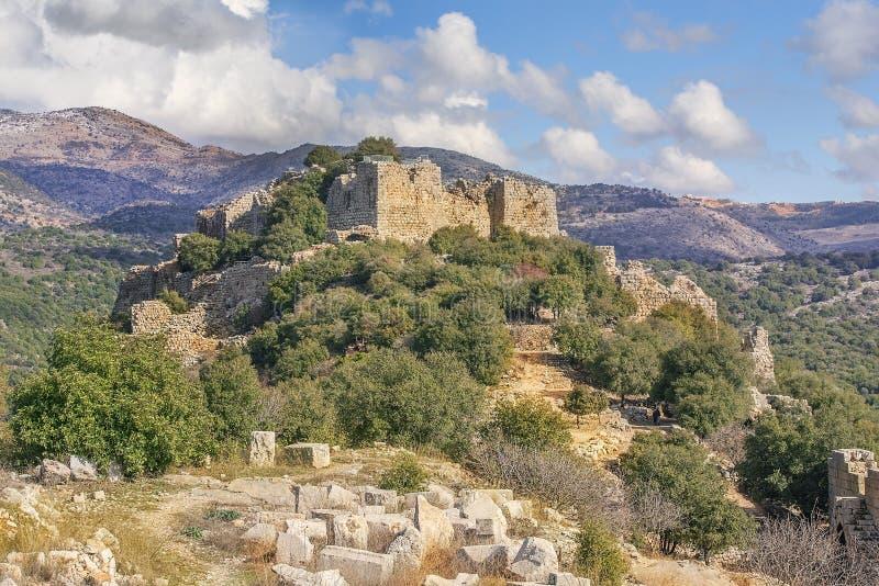 Nemroda forteca, wzgórze golan, Izrael zdjęcia royalty free