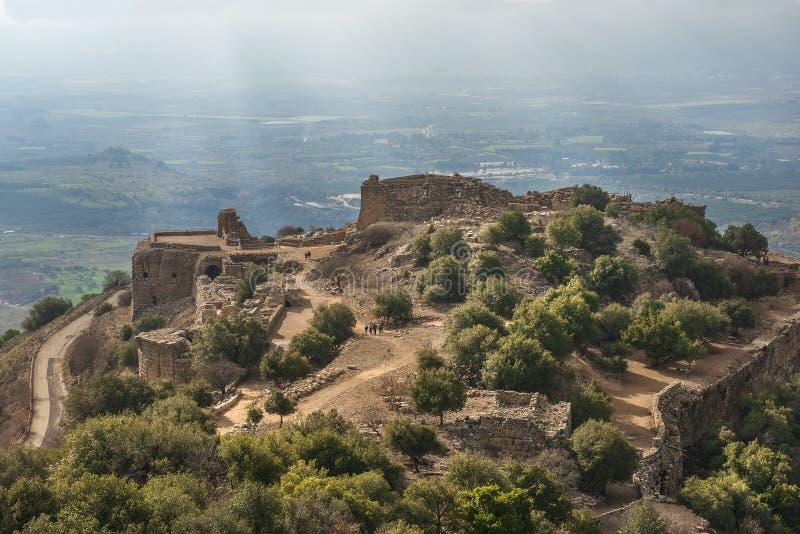 Nemroda forteca, wzgórze golan, Izrael obrazy stock