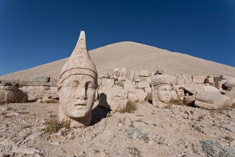 Nemrut dagi heads. royalty free stock photo