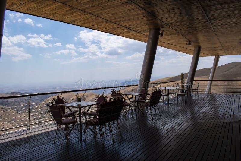Nemrut Dagi, il monte Nemrut, Kahta, Turchia, Medio Oriente, terrazzo, santuario, tomba, re Antiochus I di Commagene immagine stock libera da diritti