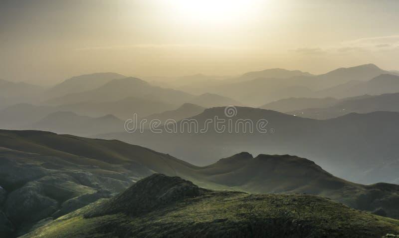Nemrut mountain and sunset landscape stock image