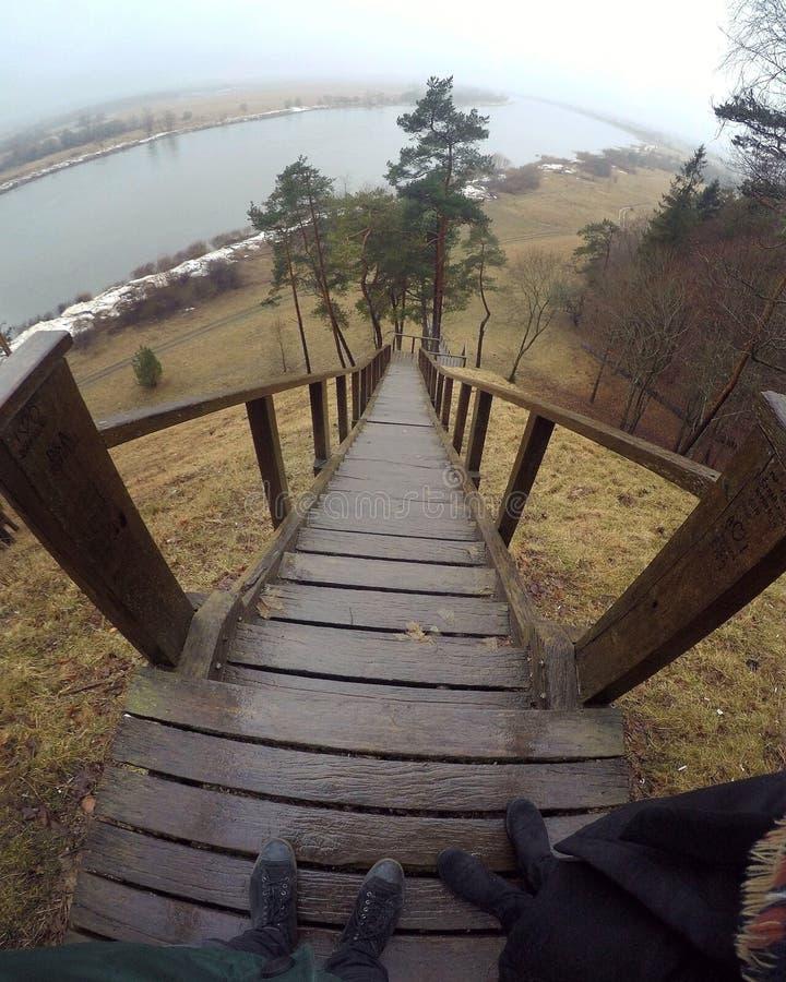Nemunas river stock photography