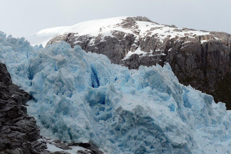 Nena Glacier no arquipélago de Tierra del Fuego imagem de stock