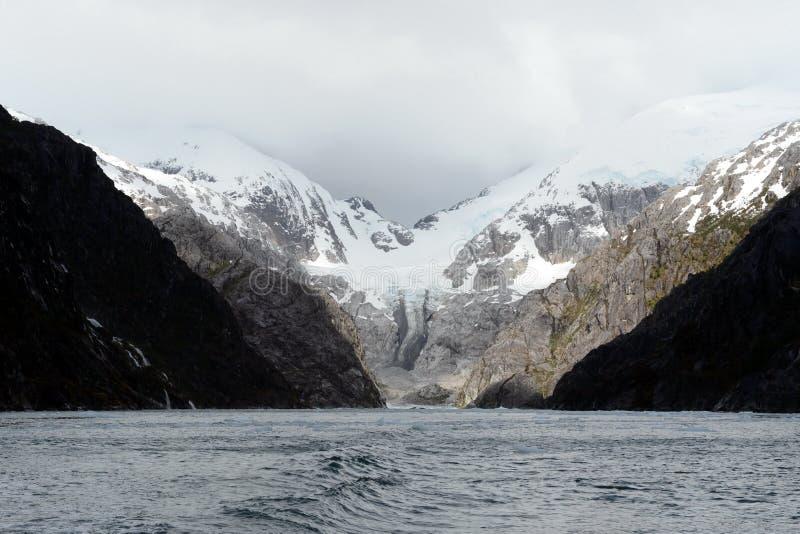 Nena Glacier no arquipélago de Tierra del Fuego fotografia de stock